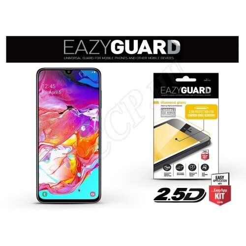 Samsung Galaxy A70 gyémántüveg kijelzővédő fólia fekete színben