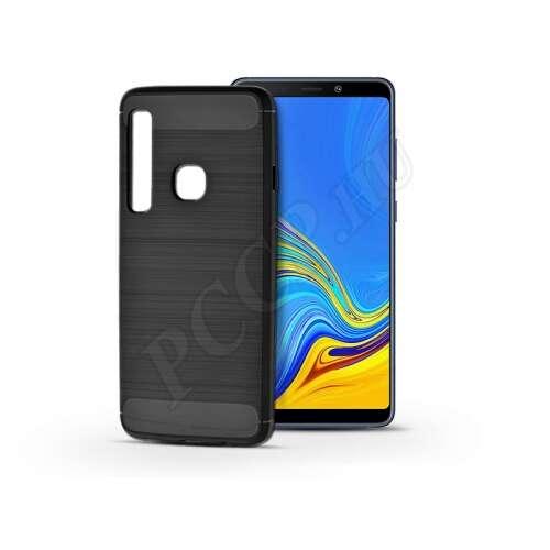 Samsung Galaxy A9 (2018)karbon fekete szilikon hátlap