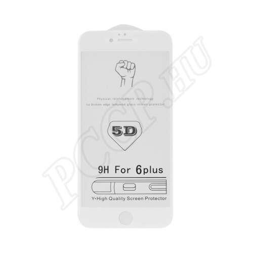 Samsung Galaxy J6 Plus (2018) hajlított üveg kijelzővédő fólia fehér színben
