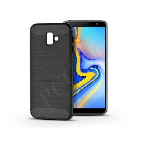 Samsung Galaxy J6 Pluskarbon fekete szilikon hátlap