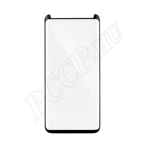 Samsung Galaxy Note 9 hajlított üveg kijelzővédő fólia fekete színben