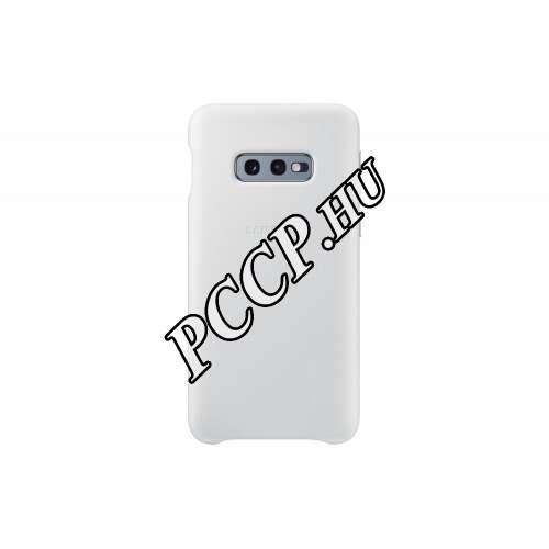 Samsung Galaxy S10 E fehér bőr hátlap