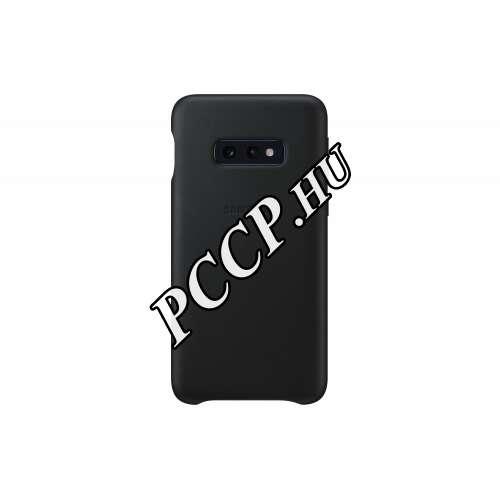 Samsung Galaxy S10 E fekete bőr hátlap