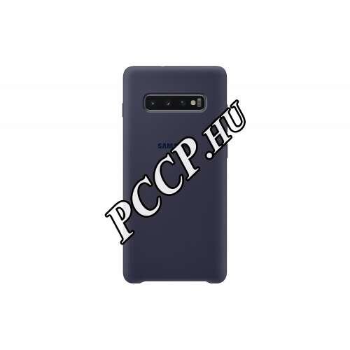 Samsung Galaxy S10 Plus sötétkék szilikon hátlap
