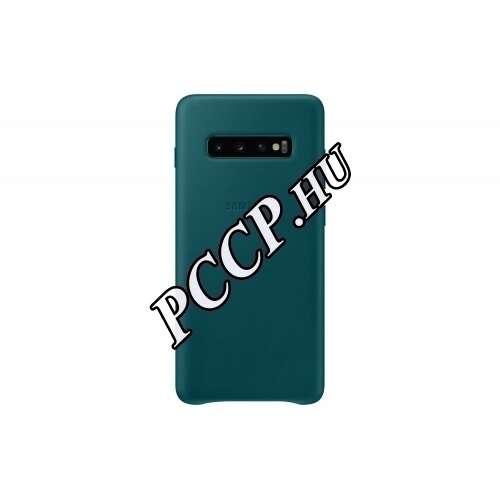 Samsung Galaxy S10 Plus zöld bőr hátlap