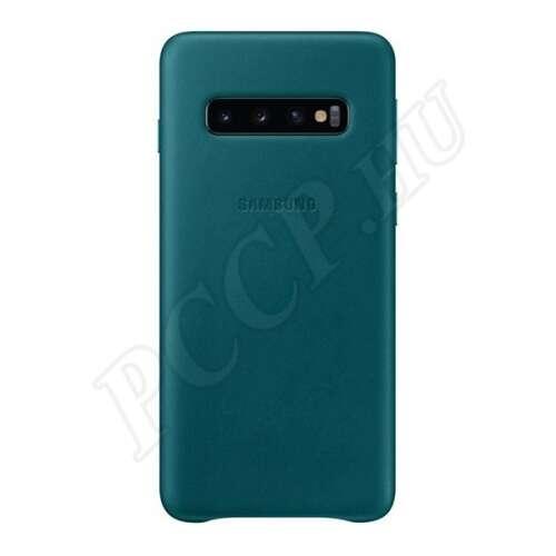 Samsung Galaxy S10 zöld gyári bőr hátlap