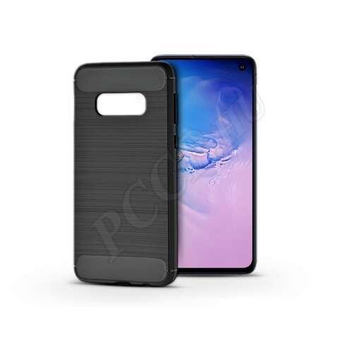 Samsung Galaxy S10E fekete szilikon hátlap