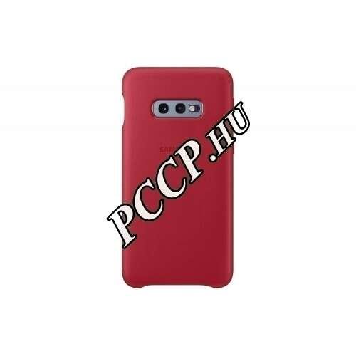 Samsung Galaxy S10E piros bőr hátlap
