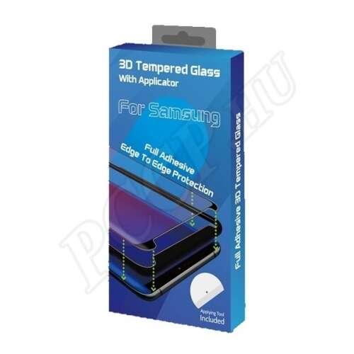 Samsung Galaxy S21 Ultra teljes kijelzős flexibilis nano üveg kijelzővédő fólia fekete színben