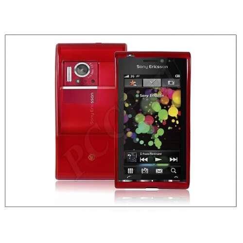 Sony-Ericsson Satio U1 piros szilikon hátlap