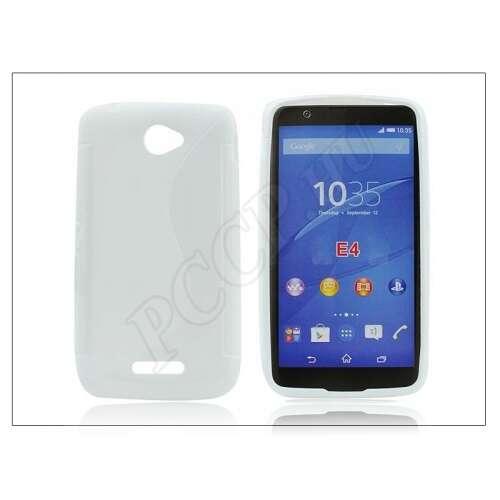 Sony Xperia E4 (E2104/E2105) fehér szilikon hátlap