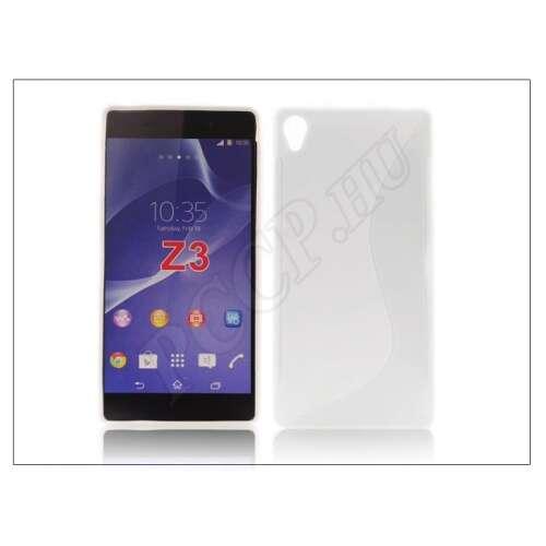 Sony Xperia Z3 (D6603) fehér szilikon hátlap
