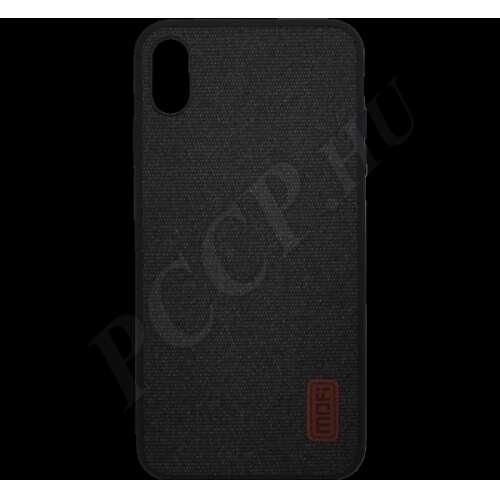 Xiaomi Redmi Go fekete szövet hátlap